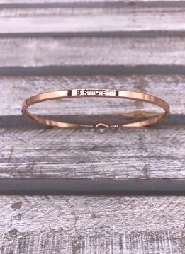 Bride Rose Gold Bangle