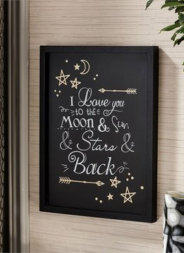 """Love You to the Moon…&Back"" Wall Decor"