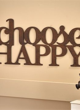 "Iron ""Choose Happy"" Wall Display"