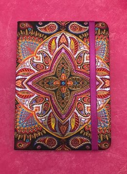 Metallic Paisley Black and Purple Notebook