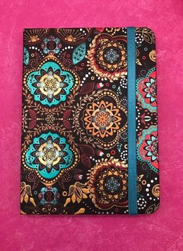 Metallic Paisley Black and Blue Notebook