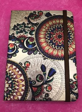 Metallic Paisley Gold and Brown Notebook
