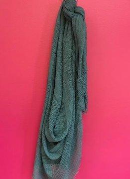 Teal Shredded Weave Open Blanket Scarf