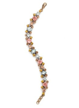 Sorrelli Gold Bracelet Rustic Bloom