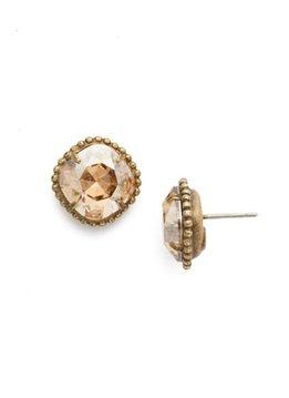 Sorrelli Gold Earrings Dark Champagne