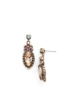 Sorrelli Gold Stud Dangle Earrings Rustic Bloom