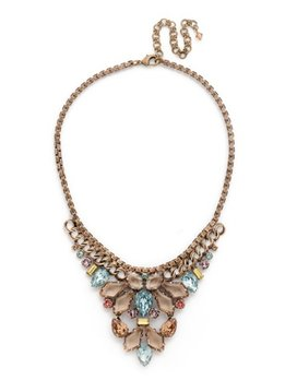 Sorrelli Gold Statement Necklace Rustic Bloom