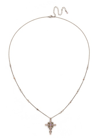 Sorrelli Silver Cross Necklace Army Girl