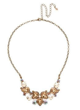 Sorrelli Gold Statement Necklace Neutral Territory
