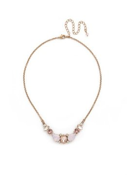 Sorrelli Gold Necklace Pink Peony