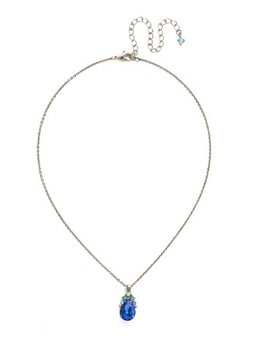 Sorrelli Silver Necklace Ultramarine