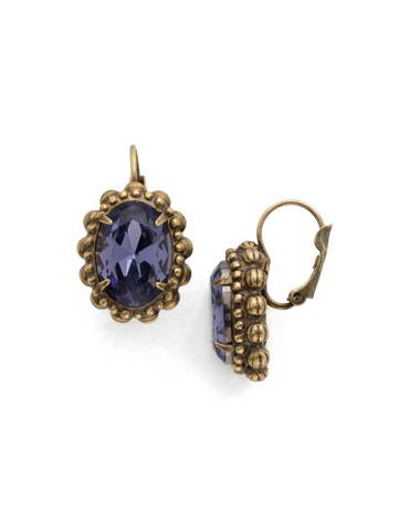 Sorrelli Gold French Wire Earrings Jewel Tone