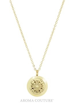 Aroma Couture Gold Diffuser Locket Cora Necklace