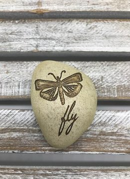 Small Inspirational Fly Token with Butterfly
