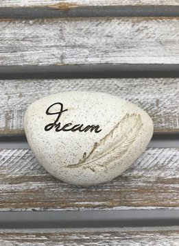 Small Inspirational Dream Token with Feather