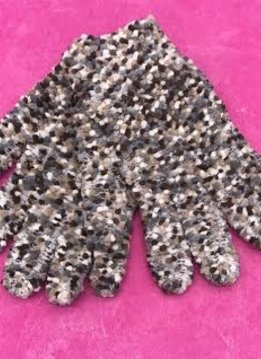Brown Knitted Gloves