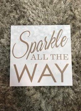 """""""Sparkle All the Way"""" LED Canvas Decor"""