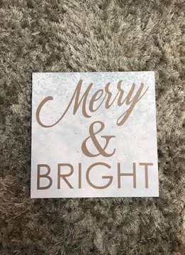 """""""Merry and Bright"""" LED Canvas Decor"""