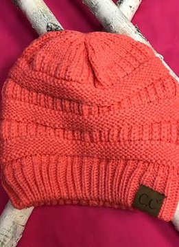 Coral Knit Beanie Winter Hat