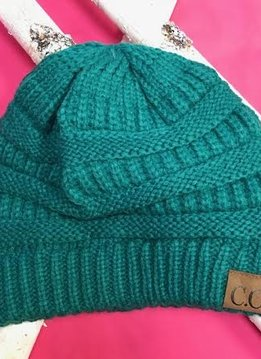 Sea Green Knit Beanie Winter Hat