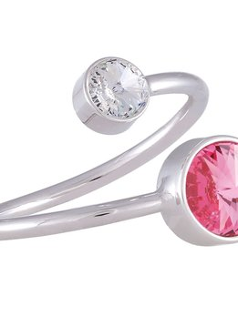 Forever Crystals Double Stone Ring in Rose