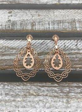 Rose Gold Dangling Earrings