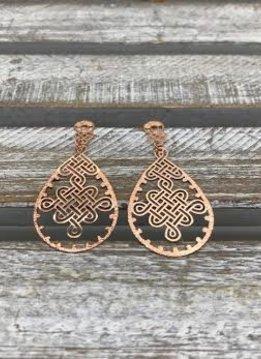 Rose Gold Celtic Knot Earrings