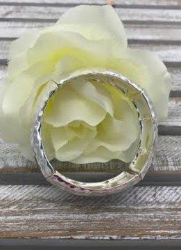 Plain Silver Stretch Bracelet