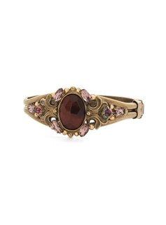 Sorrelli Gold Mahogany Bangle Bracelet