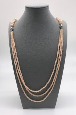 Blush Crystal Multi Purpose Necklace