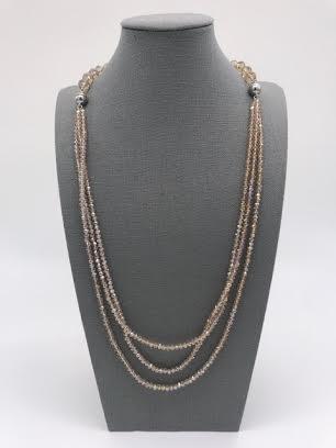 Champagne Crystals Multi Purpose Necklace