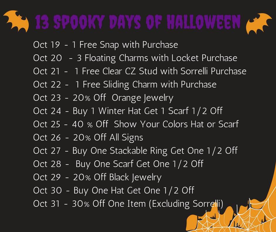 13 Spooktacular Days of Halloween
