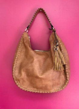 Brown Vegan Leather Large Boho Bag
