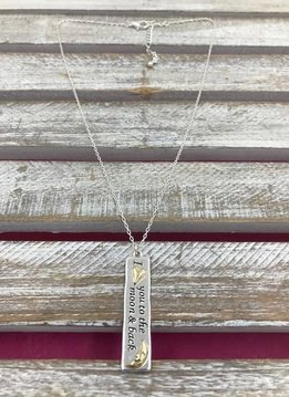 "Silver and Gold ""I Love You To The Moon and Back"" Necklace"
