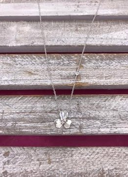 Italian Sterling Silver Three Leaf Clover Pendant Necklace