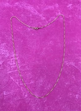 Italian Sterling Silver Yellow Gold Plated Chain 20 inches