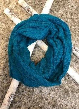 Teal Winter CC Infinity Scarf