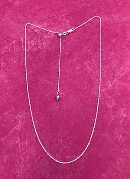 Italian Sterling Silver Adjustable Rope Chain