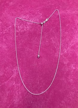 Italian Sterling Silver Adjustable Cable Chain Necklace