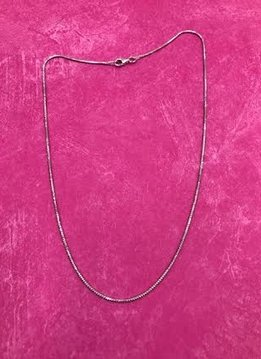 Italian Sterling Silver Faceted Snake Chain 16 inches