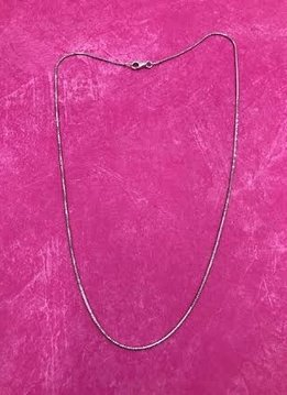 Italian Sterling Silver Faceted Snake Chain 18 inches