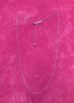 Italian Sterling Silver Adjustable Bead Chain