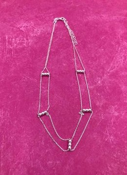 Italian Sterling Silver Simple Layered Choker