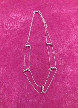Italian Sterling Silver Simple Layered Choker