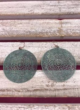 Turquoise Circle Lightweight Earrings