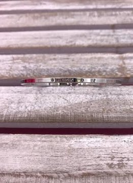 "Silver ""Blessed"" Bangle"