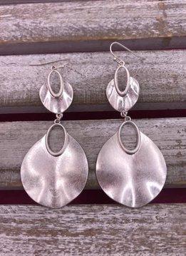 Silver Double Teardrop Earrings
