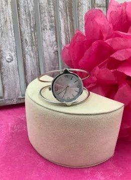 Silver Cuff Watch