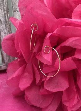 Sterling Silver 14K Gold Plated Hoops