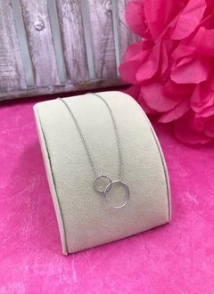 Sterling Silver 16 inch Link Circle Necklace